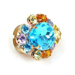 Déjà vu Ring ~ Aqua Yellow Multicolor