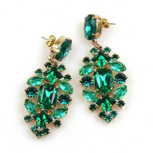Fatal Touch Earrings Pierced ~ Emerald
