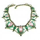Roxanne Necklace ~ Emerald Pink