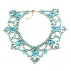 Pure Luxury Necklace ~ Aqua with Opaque Aqua