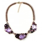 Mozaic Necklace ~ Violet