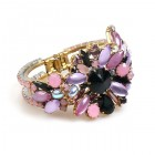 Empress Clamper Bracelet ~ Violet Black Old Rose