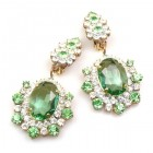 Infinite Dream Earrings Clips ~ Green