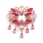 Marquis Brooch ~ Pink Fuchsia
