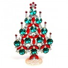 Rivoli Xmas Stand-up Tree 13cm ~ Emerald Red Clear
