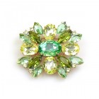 Far Away Brooch Classic ~ Green Yellow Olive