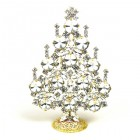 Rivoli Xmas Stand-up Tree 13cm ~ Clear Crystal