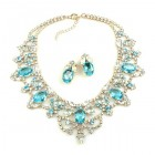 Dolce Vita Necklace and Earrings ~ Aqua