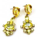 Marlene Earrings Pierced ~ Yellow