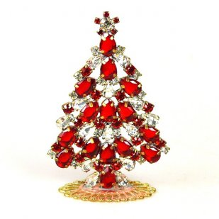 Xmas Tree Standing Decoration 2020 #19 ~ Red Clear