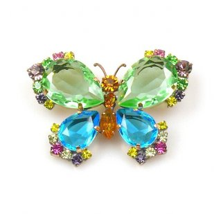 Butterfly Multicolor Brooch ~ #1