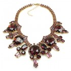 Taj Mahal Necklace ~ Purple