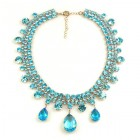 Raindrops Necklace ~ Aqua