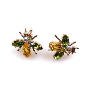 Flies Earrings for Pierced Ears #03