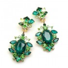 Sweet Temptation Earrings Clips ~ Emerald with Green