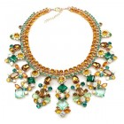 Spice Market Necklace ~ Topaz Green