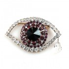 Purple Eye ~ Wonderful Rhinestone Brooch