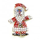 Santa Brooch ~ Medium