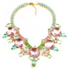 Taj Mahal Necklace ~ Pink Multicolor ~ Gold Plated