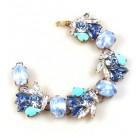 Close to Heaven Bracelet ~ Blue Tones and Clear Crystal