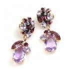Fascinate Earrings Pierced ~ Violet