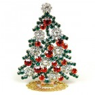 Xmas Tree Standing Decoration 2018 #08 Red Emerald Clear