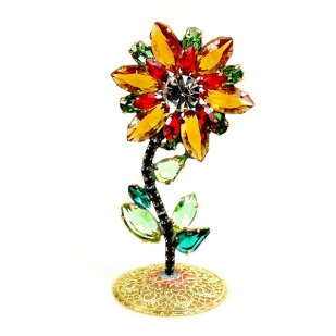 Flower Stand Up Decoration ~ Topaz Red
