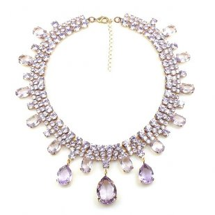Raindrops Necklace ~ Violet