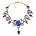 Ophelia Necklace ~ Violet Blue with Opaque White