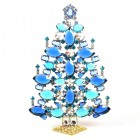 2019 Xmas Tree Decoration 21cm Navettes ~ Blue Aqua Clear