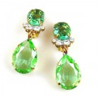 Effervescence Earrings with Clips ~ Green