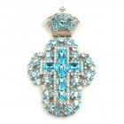 Extra Cross and Crown ~ Aqua