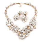 Power of Flowers ~ Necklace Set ~ Clear Crystal