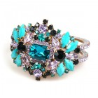 Florence Clamper Bracelet ~ Turquoise Multicolor