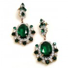 Infinite Dream Earrings Pierced ~ Emerald