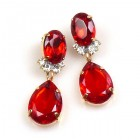 Effervescence Earrings for Pierced Ears ~ Red