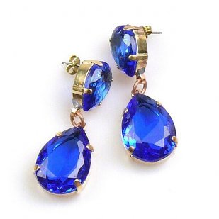 Raindrops Earrings Pierced ~ Blue