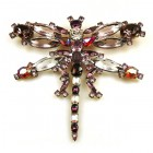 Dragonfly Brooch Extra Large ~ Amethyst