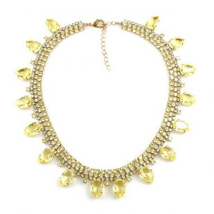 Raindrops Tears Necklace ~ Yellow Jonquil
