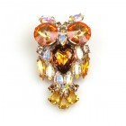 Little Owl ~ Yellow Topaz