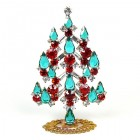 Xmas Tree Standing Decoration 2020 #05 Clear Red Emerald
