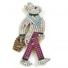 Walking Bunny Easter Brooch Large (3)
