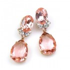 Effervescence Earrings for Pierced Ears ~ Pink