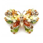 Multicolor Butterfly ~ Barrette Hairclip #5