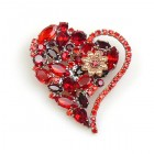 Valentines Love Heart ~ Brooch