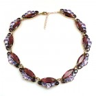 Navette Necklace ~ Purple with Violet