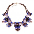 Iris Grande Necklace ~ Purple and Blue