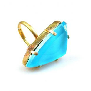 Delta Triangular Ring ~ Aqua