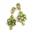 Fatal Kiss Earrings Clips-on ~ Olive Green
