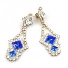 Pryia Earrings Pierced ~ Blue